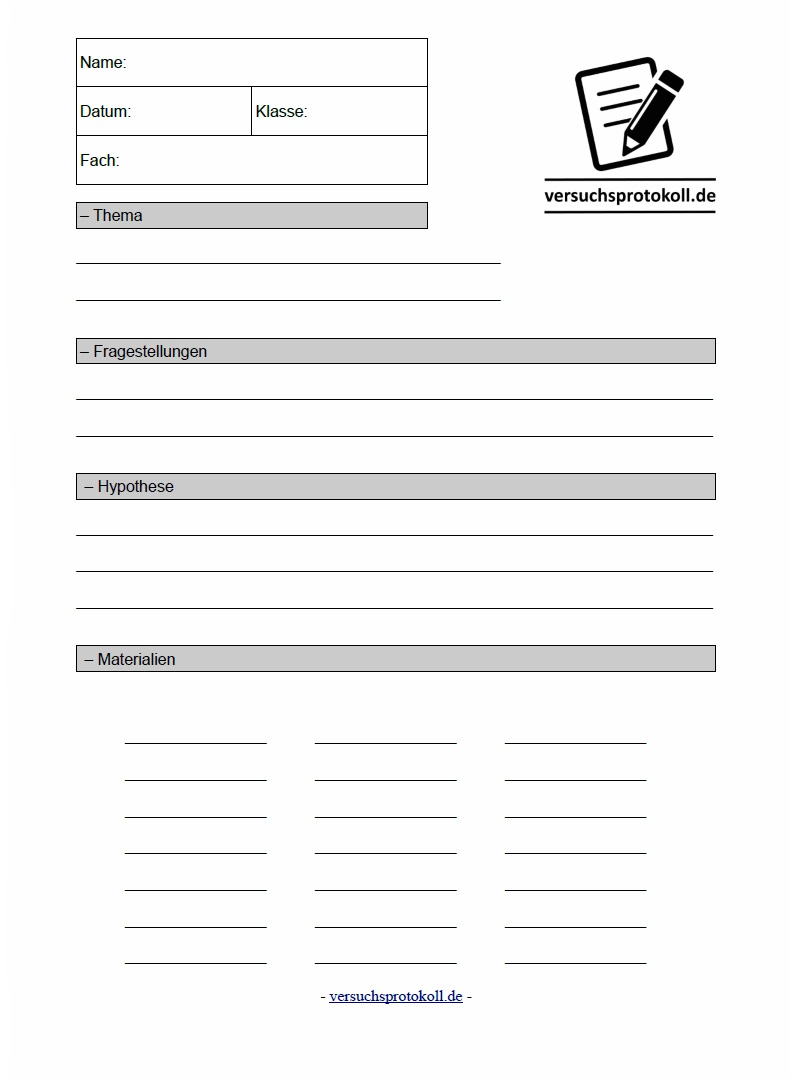 Chemie protokoll vorlage pdf inhaltsverzeichnis vorlage word
